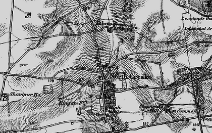 Old map of North Creake in 1898