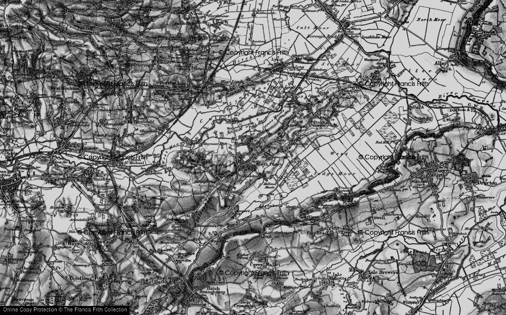 Old Map of North Curry, 1898 in 1898