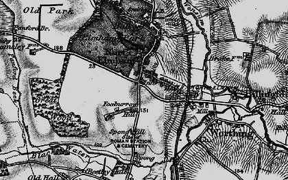 Old map of North Elmham in 1898
