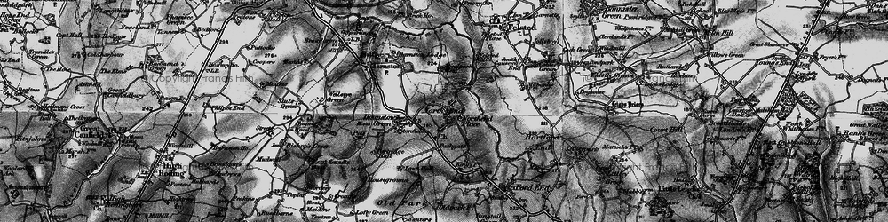 Old map of Absol Park in 1896