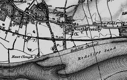 Old map of North Ferriby in 1895