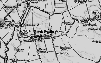 Old map of North Frodingham in 1897