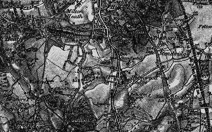 Old map of North Holmwood in 1896