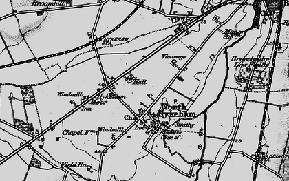 Old map of North Hykeham in 1899