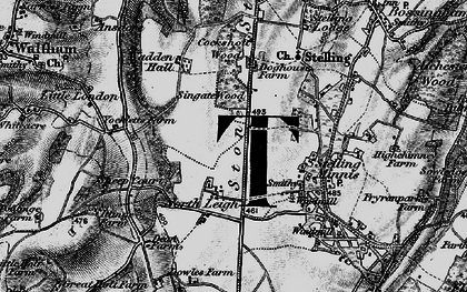 Old map of Yockletts Banks in 1895