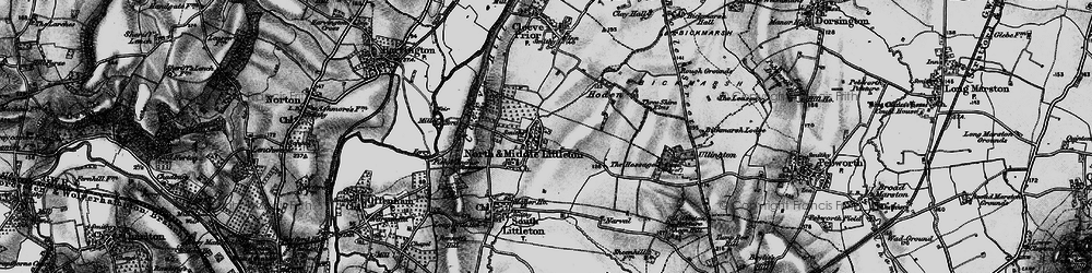 Old map of North Littleton in 1898