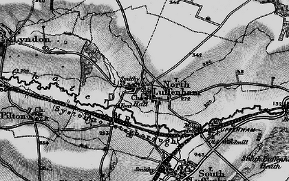 Old map of North Luffenham in 1898