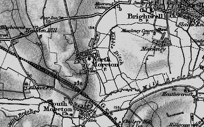 Old map of North Moreton in 1895