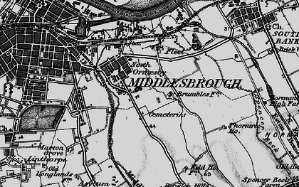 Old map of North Ormesby in 1898