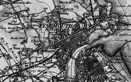 Old map of North Shields in 1897