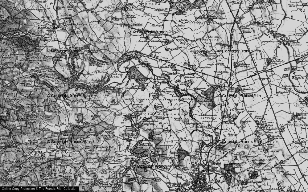 Old Map of Historic Map covering Badgerbank in 1897