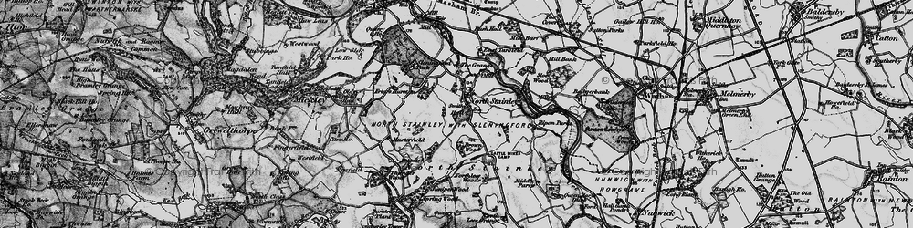 Old map of Lightwater Valley in 1897