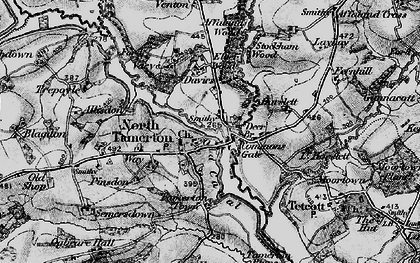 Old map of Affaland Wood in 1895