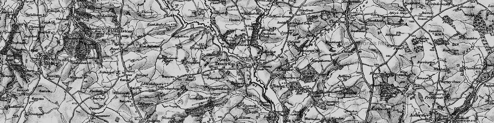 Old map of Tinney in 1895