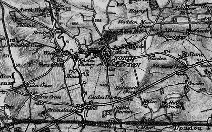 Old map of Yeo in 1898