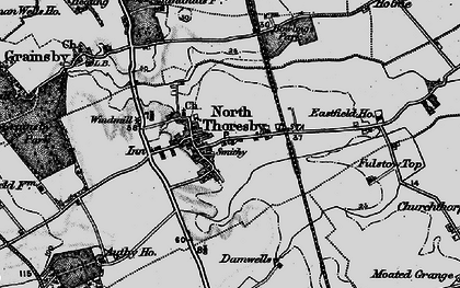 Old map of North Thoresby in 1899