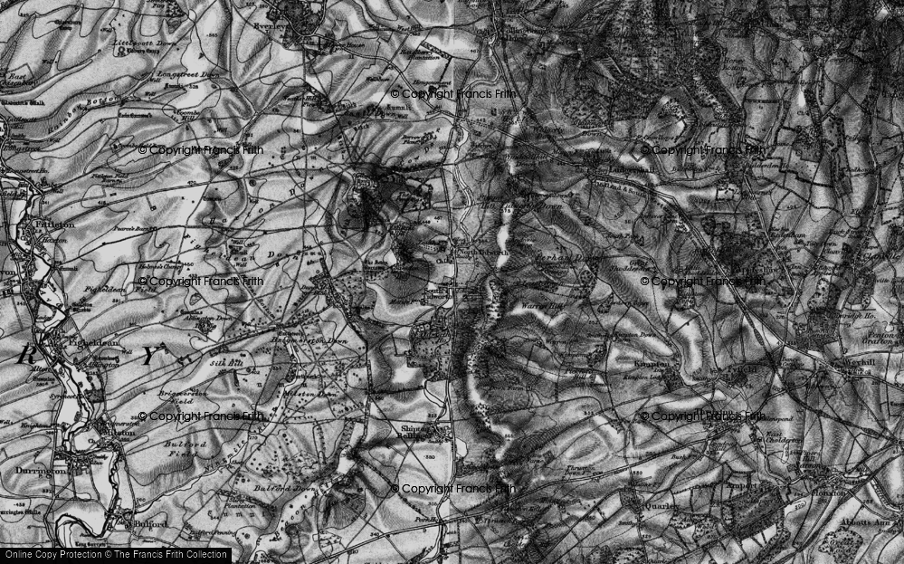 Old Map of Historic Map covering Tidworth Ho in 1898