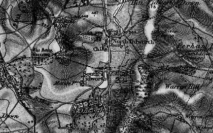 Old map of Tidworth Camp in 1898
