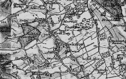 Old map of Ash Barton in 1898