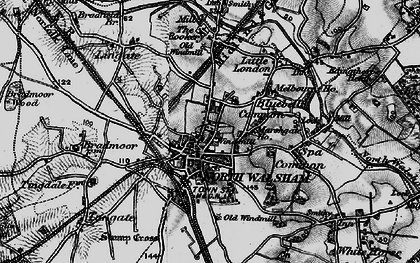 Old map of North Walsham in 1898
