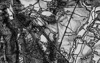 Old map of North Watford in 1896