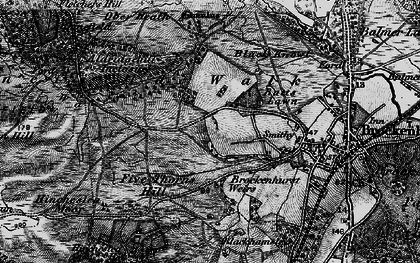 Old map of Aldridgehill Inclosure in 1895