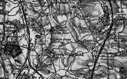 Old map of North Wingfield in 1896