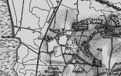 Old map of Wooton Marsh in 1893