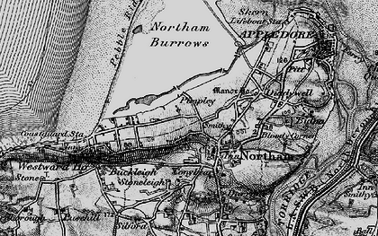 Old map of Northam in 1895