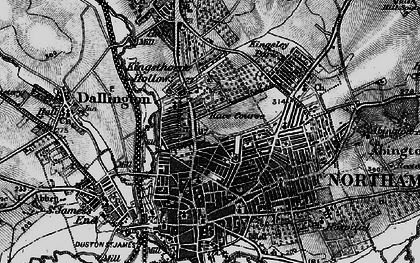 Old map of Northampton in 1898