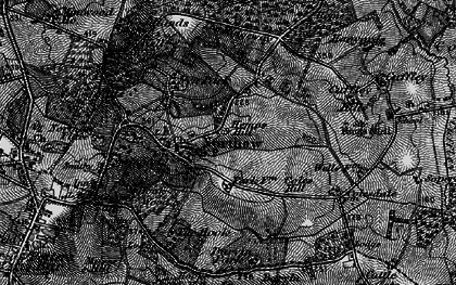 Old map of Northaw in 1896