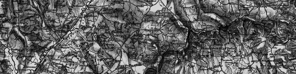 Old map of Westhay in 1898