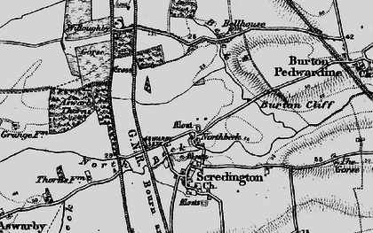 Old map of Aswarby Thorns in 1895