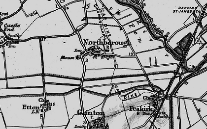 Old map of Northborough in 1898