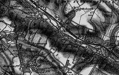 Old map of Northchurch in 1896