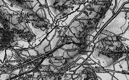 Old map of Langford Br in 1898