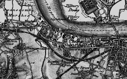 Old map of Tilbury Ness in 1896