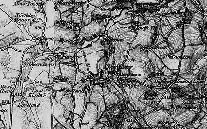 Old map of Northlew in 1895
