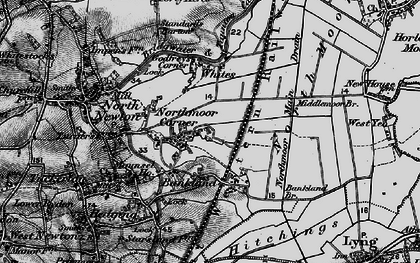 Old map of White's in 1898