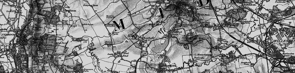 Old map of Northolt in 1896