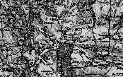 Old map of Northop in 1896