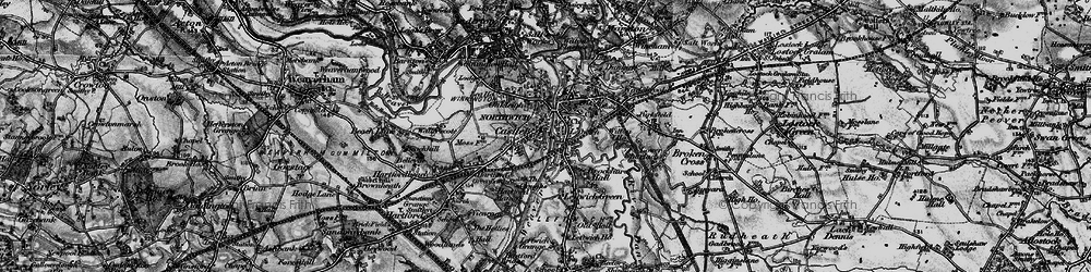 Old map of Northwich in 1896