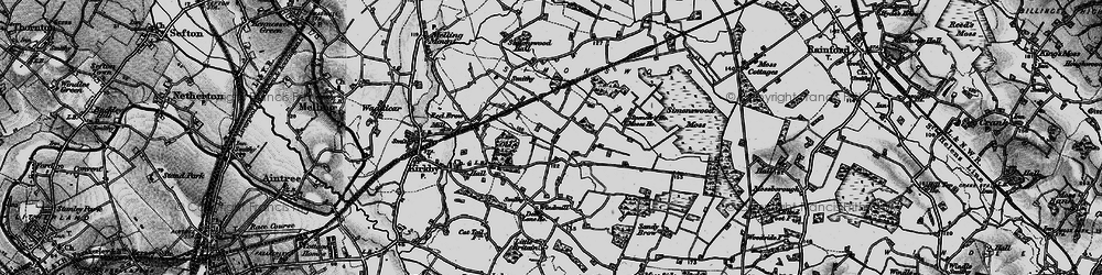 Old map of Northwood in 1896