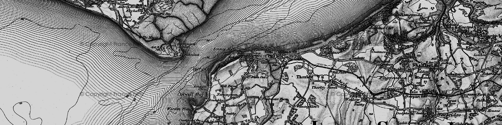 Old map of Norton in 1895