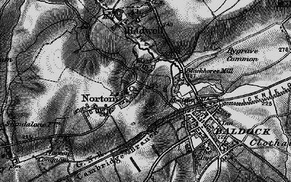 Old map of Norton in 1896