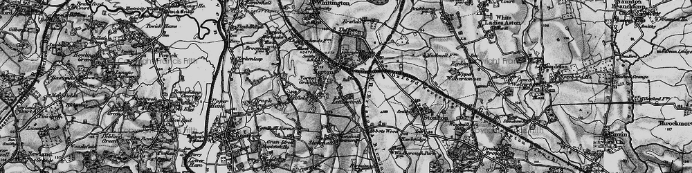 Old map of Norton in 1898