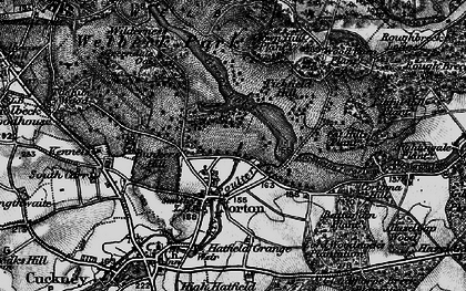 Old map of Wood Barn Plantn in 1899