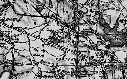Old map of Norton Canes in 1898