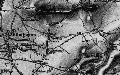 Old map of White Sheet Downs in 1898