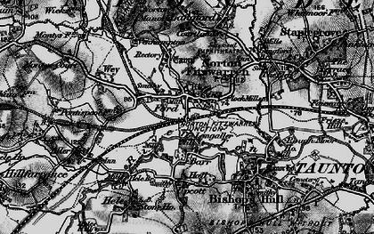 Old map of Norton Fitzwarren in 1898
